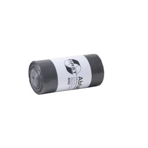 Vuilniszak 12 micron LDPE 24-26x60cm grijs - rol van 50