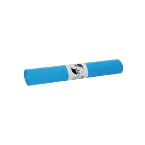 garbage bags HDPE SOLID blue - 80x110cm, blue - 20 pcs per roll