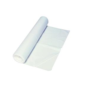 Vuilniszak 10 micron HDPE 60cmx60cm wit - rol van 50