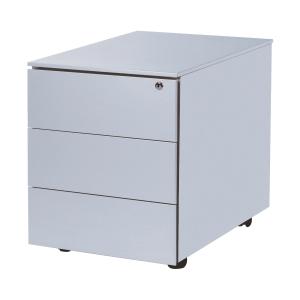 Pedestal 42x53,5x50,3 cm 3 drawers aluminium