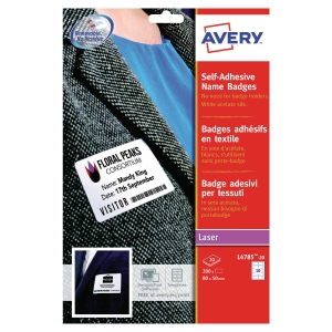 Avery L4785-20 selfadhesive badges 50 x 80 mm - box of 200
