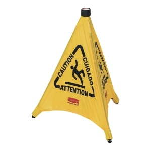 Rubbermaid FG9S0000 opvouwbare veiligheidskegel  natte vloer , geel, per stuk
