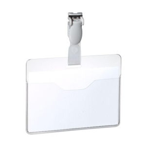 Durable 8147 badge with plastic clip 90x60mm - pack of 25