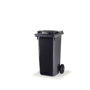 Citec container with rubber wheels and grey lid 120 l