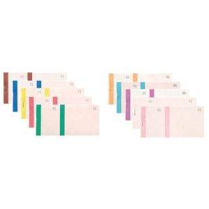 Exacompta nummerboek, 100 blad, dubbele nummering en gekleurde band