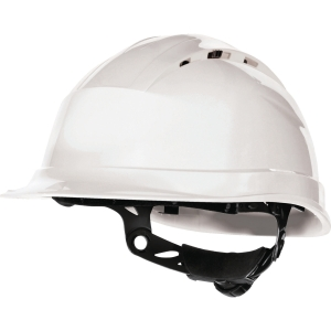 Deltaplus Quartz IV Up safety helmet in PP with 8 fixing points white