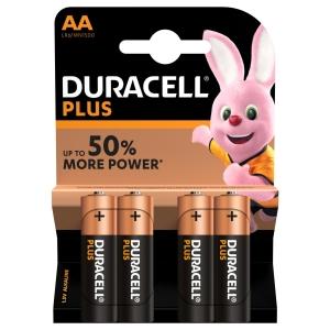 Duracell Plus Power alkaline AA-batterijen - pak van 4