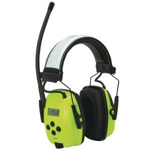 Howard Leight hi-viz oorkap met digitale AM/FM radio SNR 29dB