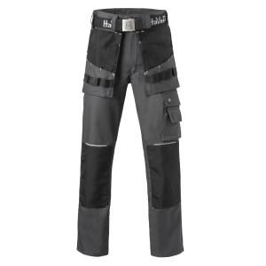 Havep Worker.Pro 8730 werkbroek, grijs/zwart, maat 62, per stuk
