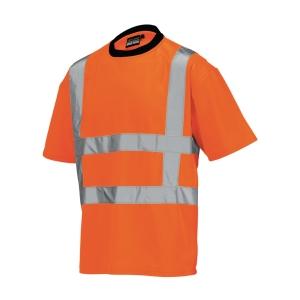 Tricorp TT-RWS hi-viz T-shirt met korte mouwen, fluo oranje, maat XL, per stuk