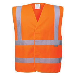 Portwest C470 hi-viz fluohesje, fluo oranje, maat L/XL, per stuk
