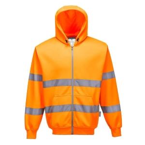 Portwest B305 hi-viz sweater met kap oranje - maat L