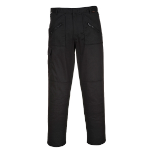 PORTWEST S887 TROUSERS ACTION BLACK 34