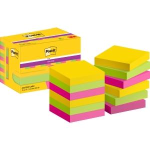 Post-it Super Sticky Notes 47,6x47,6 mm Rio kleuren - pak van 12