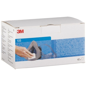 3M Face seal wipes 105 individually wrapped - box of 40 pairs of wipes