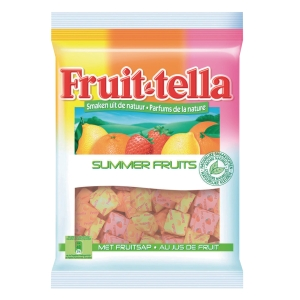 Fruittella fruit snoepjes individueel verpakt - zak van 3kg