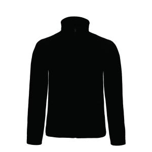 B&C Micro Fleece Full Zip 280gr zwart - size S - doos van 5