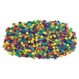 Colorations mozaïek in hout assorti kleuren - pak van 1000