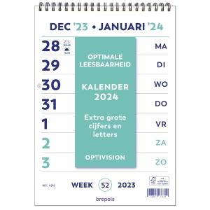 Brepols Optivision weekkalender 21 x 27,9 cm Nederlands