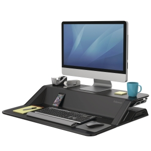 Fellowes Lotus sit-stand workstation black