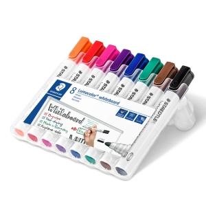 Staedtler® Lumocolor 351 whiteboard marker, assorti kleuren, per 8 stuks