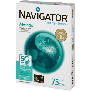 Navigator Advanced recycled paper A3 75g - 1 box = 5 reams of 500 sheets