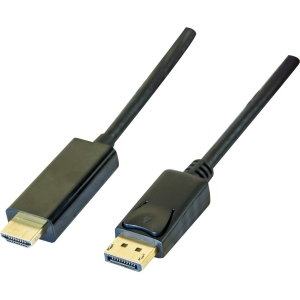 Display port 1,1 to HDMI cord black 2 meter