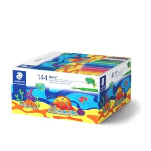 Staedtler 328 driekantige viltstiften assortiment - pak van 144