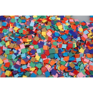 Kartonmozaïek in assorti kleuren - 10.000 stuks