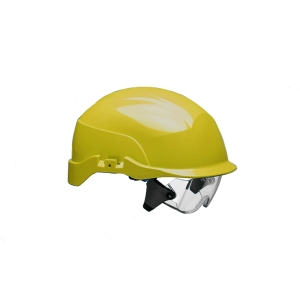 Conturion Spectrum vented safety helmet + integrated glasses - yellow