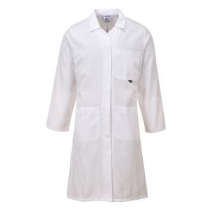 Portwest LW63 labojas voor dames, polyester/katoen, wit, maat L, per stuk