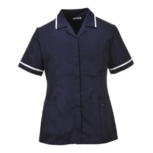 Portwest LW20 klassiek dames tuniek polyester/katoen 210gr navy blauw - Maat 3XL