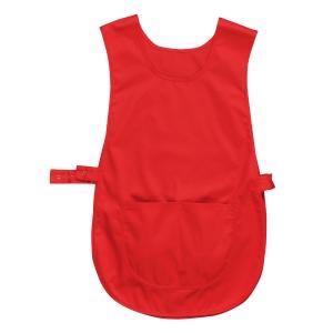 Portwest S843 apron polyester/coton 190gr red - size L/XL