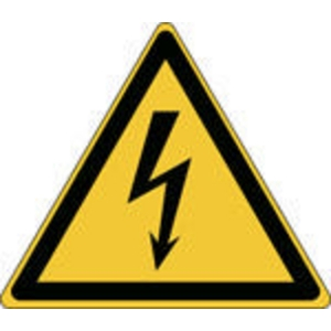 Brady self adhesive pictogram W012 Electricity 200x173 mm