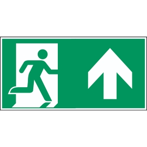 Brady pictogram PP A0/E002 Emergency exit right straight 297x145mm