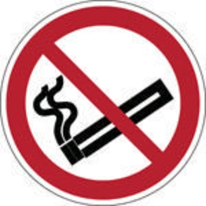 Brady self adhesive pictogram P002 No smoking 50mm - pk 2