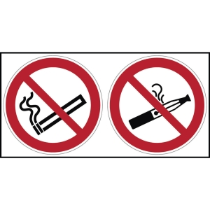 Brady self adhesive picto P002/PIC900 No smoking incl. e-cigarettes 200x100mm
