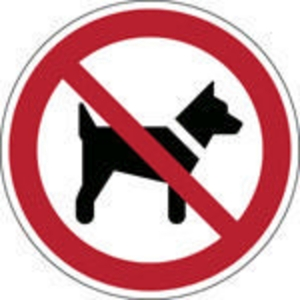 Brady self adhesive pictogram P021 No animals 100mm