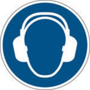 Brady M003 gebodsteken gehoorbescherming verplicht, zelfklevend, 100 mm, 1x