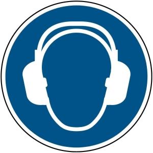 Brady M003 gebodsteken gehoorbescherming verplicht, zelfklevend, 200 mm, 1x