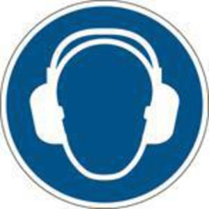 Brady M003 gebodsteken gehoorbescherming verplicht, PP, 315 mm, per stuk