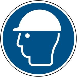 Brady zelfklevend pictogram M014 Veiligheidshelm verplicht 200mm