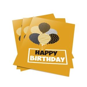 Wenskaarten Happy Birthday 2017 - pak van 6
