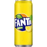 Fanta Lemon boisson non-alcoolisé cannette 33 cl - paquet de 24