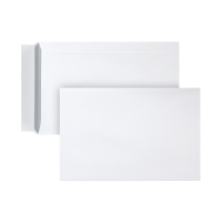 Pochettes 185x280mm bande siliconée 120g extra blanches - boite de 500