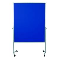 Legamaster Premium Mobile Tableau moderation feutre 150x120 cm bleu