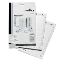 Durable 1452 cartes à insérer pour badge 60x40mm - 18 par flle - boite de 360