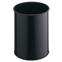 Durable corbeille métallique non anti-feu 15l noir