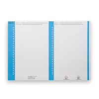 Elba feuilles de lecture dossier suspendu nr.8 armoire bleu - paquet de 10