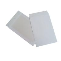 Pochettes dos carton 220x312mm bande siliconée 120g blanches - boite de 100